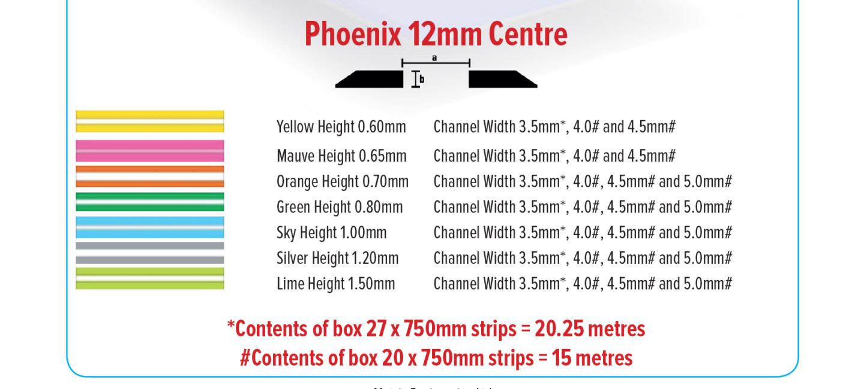 Creasing-Matrix-Phoenix-12mm-Centre-Size-Chart